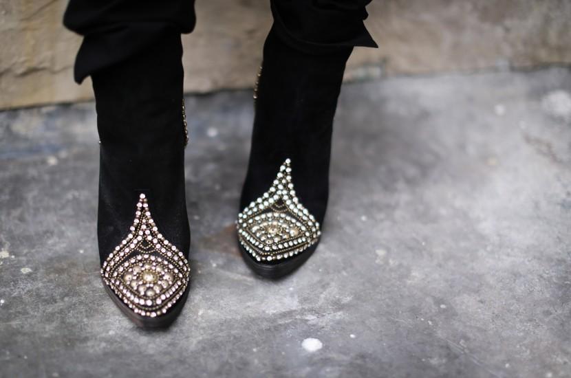 balmain studded boots