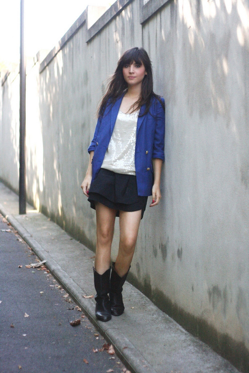 tenue blazer bleu